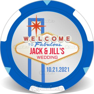 Vegas Sign Wedding Custom Poker Chips