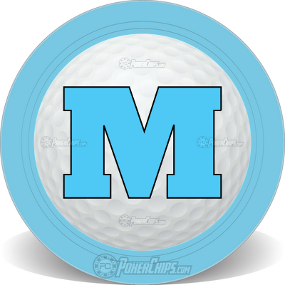 Ball Marker Monogram Custom Poker Chips