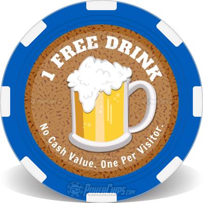 Free Drink Promo Custom Poker Chips
