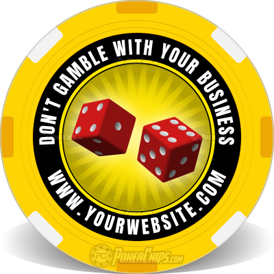 Don't Gamble, Sure Bet Customized Poker Chips